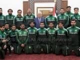 پاکستان اور فلسطین کے دل ایک ساتھ دھڑکتے ہیں،فلسطینی صدر محمود عباس۔ فوٹو: پی ایف ایف