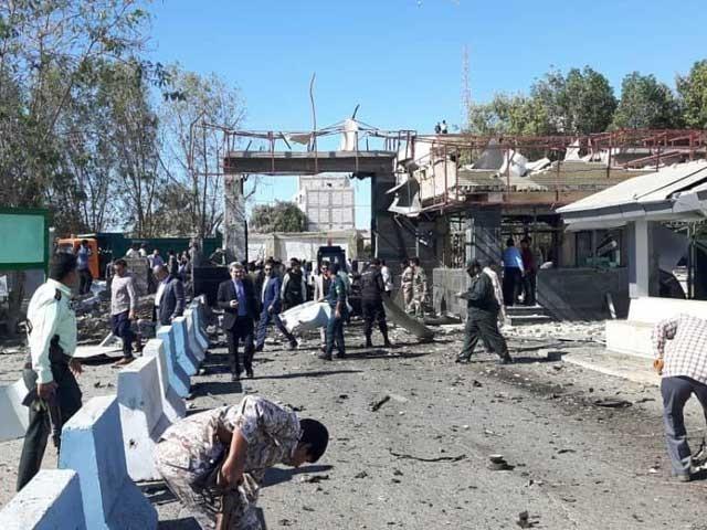کار سوار خودکش حملہ آور نے پولیس کے ہیڈکوارٹرز کو نشانہ بنایا، ایرانی میڈیا فوٹو:انٹرنیٹ
