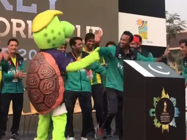 پاکستان ہاکی ٹیم کے اعزاز میں تقریب کا اہتمام کیا گیا تھا (فوٹو: فائل)