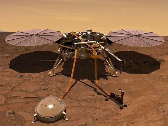 ناسا نے انسائٹ خلائی جہاز کی طرف سے بھیجی گئی ریکارڈ شدہ  مریخی آواز کی فائل جاری کی ہے (فوٹو: فائل)