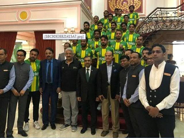تقریب میں پاکستان ہاکی ٹیم کے کپتان سمیت تمام کھلاڑیوں اور آفیشلز نے شرکت کی۔