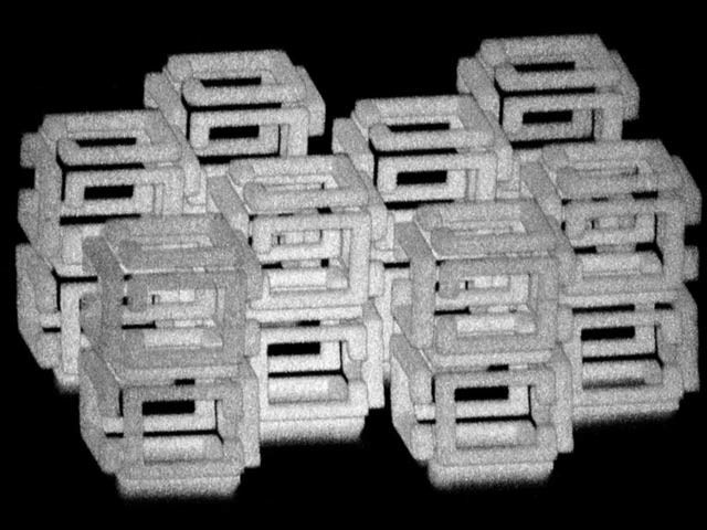 ایم آئی ٹی کے ماہرین نے سینٹی میٹرچوڑی اشیا بنانے کے بعد انہیں ملی میٹر پیمانے تک سکیڑ دیا ہے۔ فوٹو: ایڈ بوئڈن
