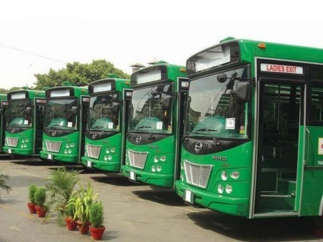 گرین بس منصوبے کا روٹ کم و بیش 30 کلومیٹر طویل ہے فوٹو: فائل