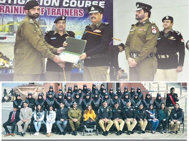 ماسٹر ٹرینرز کی تربیت مکمل، تاریخ میں پہلی بار لیڈی پولیس آفیسرز کی پاسنگ آؤٹ تقریب