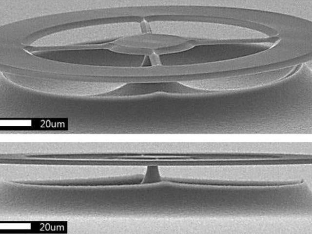 تصویر میں دنیا کے حساس ترین الٹرا ساؤنڈ کا رسیور دکھائی دے رہا ہے جو خلیات کی ارتعاشی تصویر بھی فراہم کرسکتا ہے (فوٹو: یونیورسٹی آف کوئنزلینڈ)