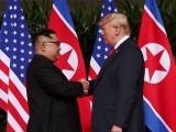 ڈونلڈ ٹرمپ سے شمالی کوریا کے اعلیٰ مذاکرات کار کِم یانگ نے ملاقات کی جس کے بعد یہ اعلان کیا گیا فوٹو:فائل