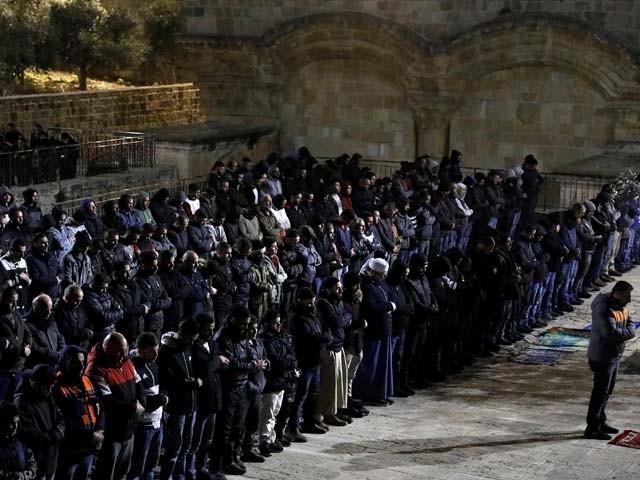 اسرائیل نے 2003 میں باب الرحمہ میں داخلے میں پابندی لگا کر دروازے کو تالا لگا دیا تھا۔ فوٹو : ٹویٹر