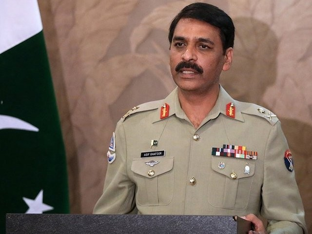 میجر جنرل آصف غفور نے اپنی ٹوئٹ میں ایک وڈیو بھی شیئر کی ہے فوٹو: فائل