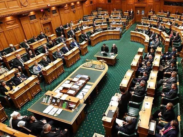 نیوزی لینڈ کی پارلیمنٹ میں اپوزیشن اور حکومتی ارکان نے متاثرین کے سوگ میں ایک منٹ کی خاموشی اختیار کی فوٹوفائل