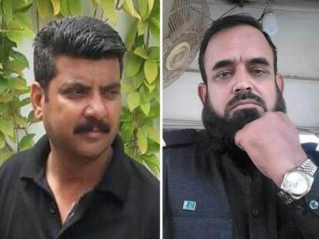 شہید گارڈ صنوبر خان 10 سال سے دارالعلوم کراچی میں سیکیورٹی پر مامور اور 3 بچوں کا باپ تھا (فوٹو: ایکسپریس)