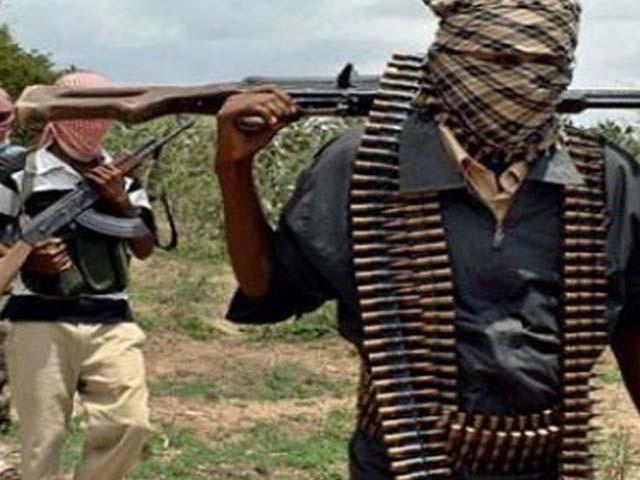 نقاب پوش مسلح افراد نے قتل عام کے بعد پورے گاؤں کو آگ لگا دی ۔ فوٹو : فائل