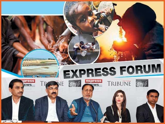 ''پانی کے عالمی دن'' کے موقع پر منعقدہ ''ایکسپریس فورم'' میں شرکاء کی گفتگو