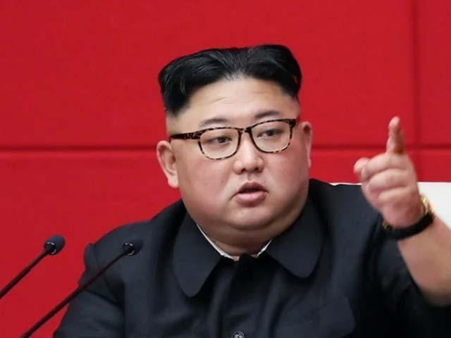 کم جونگ ایک بار پھر سربراہ منتخب ہونے کے بعد اسمبلی سے خطاب کر رہے تھے۔ فوٹو : فائل