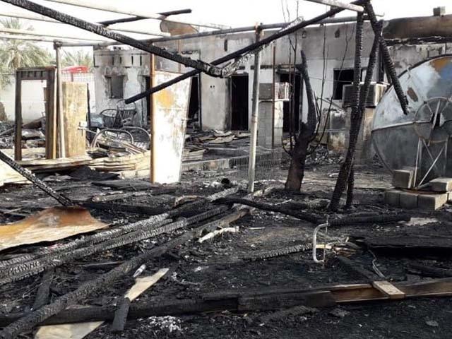 آتشزدگی میں جاں بحق ہوانے والوں میں باپ اور دو بیٹے بھی شامل ہیں۔ فوٹو : گلف نیوز