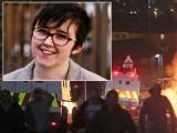 خاتون صحافی کی مدد کو آنے والی ایمبولینس کو بھی نذر آتش کردیا گیا۔ فوٹو : ٹویٹر