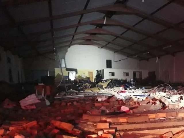 حادثے میں 16 افراد زخمی بھی ہوئے۔ فوٹو : ٹویٹر