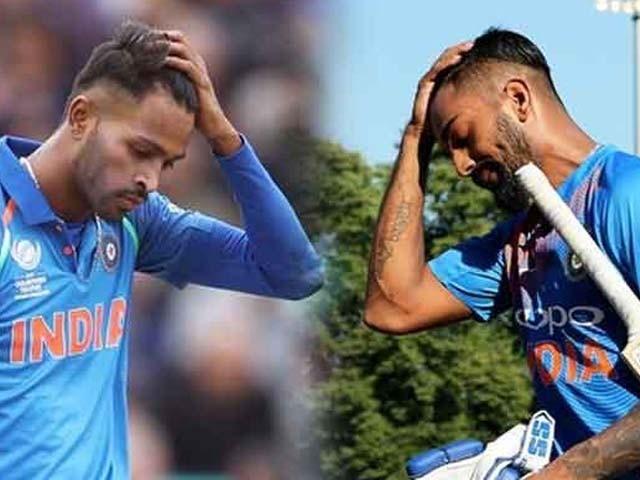 بھارتی کھلاڑیوں نے ٹی وی شو میں خواتین کے لیے نازیبا الفاظ استعمال کیے تھے (فوٹو : فائل)