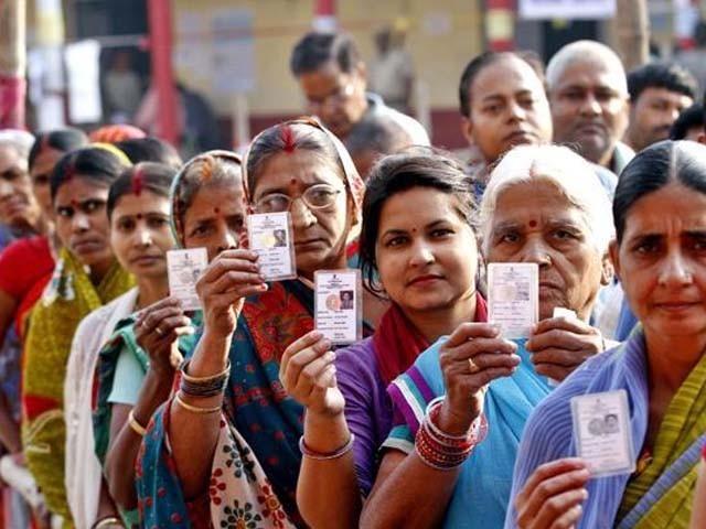 لوک سبھا کے انتخابات کے چھٹے مرحلے میں 59 حلقوں میں ووٹ ڈالے گئے فوٹو : فائل
