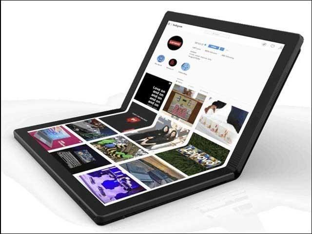 لینوو کمپنی نے فولڈایبل لیپ ٹاپ پیش کردیا ہے جس کی کچھ تصاویر بھی جاری کی گئی ہیں۔ فوٹو: پاپولرسائنس