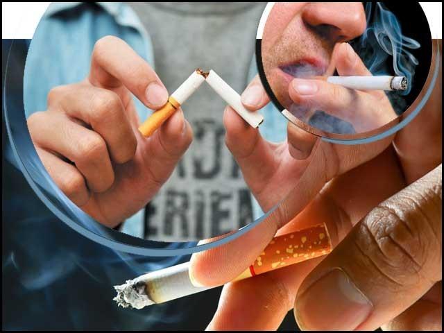 تمباکو کی عادت پڑنے کے بعد اس کو چھوڑنا آسان نہیں لیکن اگر انسان عزم کر لے تو سب کچھ ممکن ہے۔ فوٹو: فائل