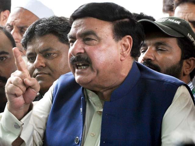 ۔ مسلم لیگ ن اپنی سیاست کا جنازہ نکالنے اسلام آباد جار ہی ہے۔ شیخ رشید فوٹو : فائل