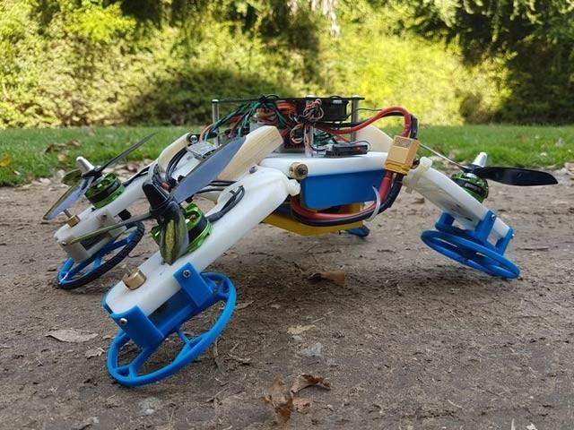 اسرائیلی ماہرین کا ایف اسٹار ڈرون کو زمین پر کار کی مانند دوڑتا بھی ہے۔ فوٹو: نیواٹلس