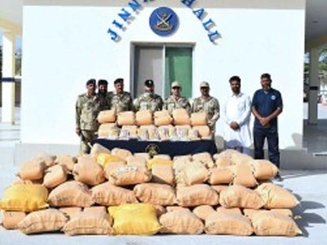 پکڑی جانے والی منشیات کی عالمی مارکیٹ میں مالیت تقریباً 86.18 ملین روپے ہے، ترجمان کوسٹ گارڈ۔ فوٹو : فائل