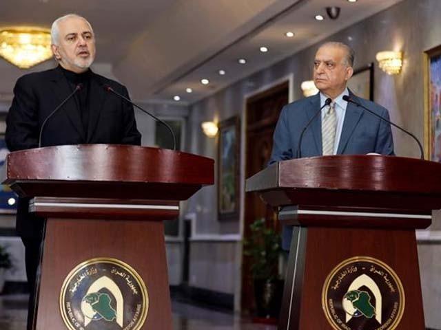 ایران کے وزیردفاع نے عراق میں اپنے ہم منصب سے ملاقات کی۔ فوٹو : رائٹزر