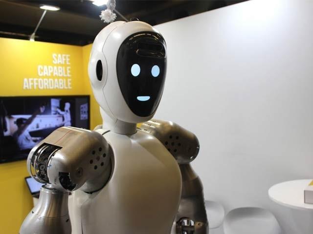 ای وی ای آر تھری روبوٹ تجربہ گاہ، ہسپتالوں اور گھروں میں مدد کے لیے تیار کیا گیا ہے۔ فوٹو: بشکریہ ہیلوڈی روبوٹکس