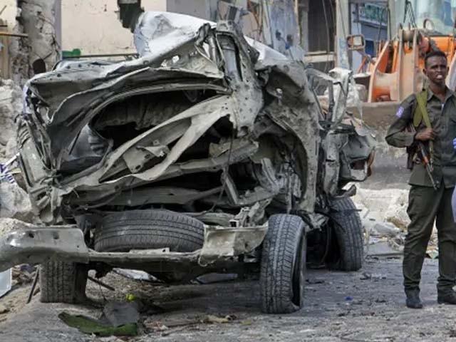 دھماکا ریمورٹ کنٹرول ڈیوائس کے ذریعے کیا گیا۔ فوٹو : اے ایف پی