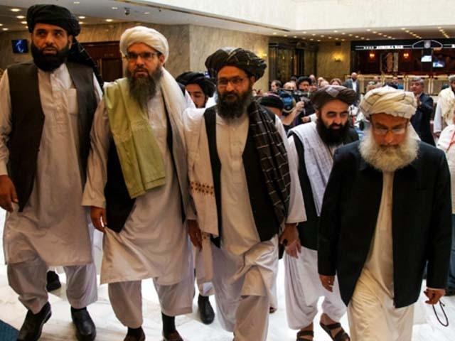 طالبان وفد کی سربراہی ملا عبدالغنی برادر نے کی۔ فوٹو : فائل