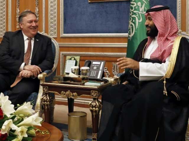 مائیک پومپیو سعودی عرب کے بعد متحدہ عرب امارات اور بھارت کے دورے پر جائیں گے۔ فوٹو : اے ایف پی