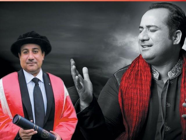 ڈاکٹریٹ کی ڈگری والدین اور استاد نصرت فتح علی خاں کے نام کر دی۔ فوٹو: فائل