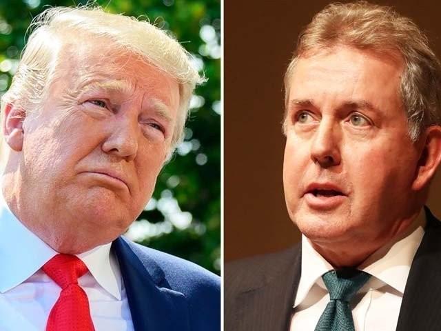 برطانوی سفیر نے صدر ٹرمپ کے طرز حکومت کو نااہل اور ناکارہ کہا تھا۔ فوٹو : فائل