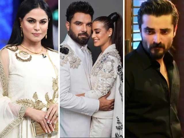 سوشل میڈیا پر یاسر حسین کو اقرا عزیز کو بے ہودہ انداز میں شادی کی پیشکش کرنے پر تنقید کا نشانہ بنایاجارہاہے فوٹوفائل