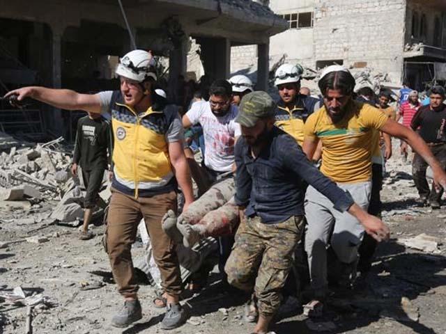 جاں بحق اور زخمی ہونے والوں میں بچے اور خواتین بھی شامل ہیں (فوٹو : ٹویٹر)