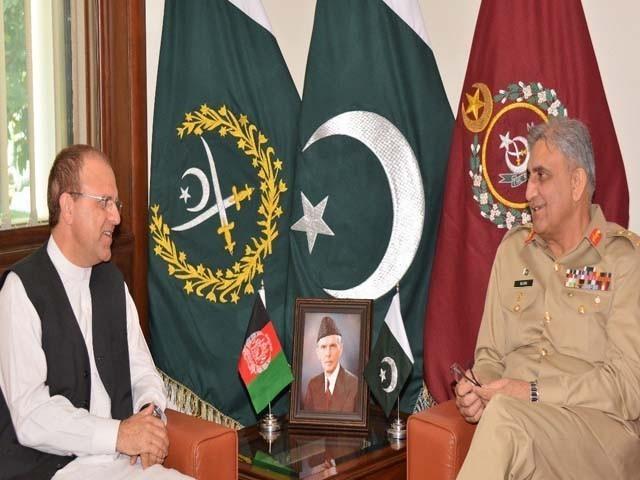 افغانی سفیر نے دو طرفہ تعلقات میں بہتری کیلیے آرمی چیف کی کاوشوں کا شکریہ ادا کیا۔ فوٹو: فائل