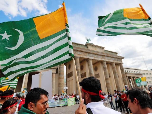 جرمنی کے شہر برلن میں کشمیر کے حق میں مظاہرہ (فوٹو: رائٹر)