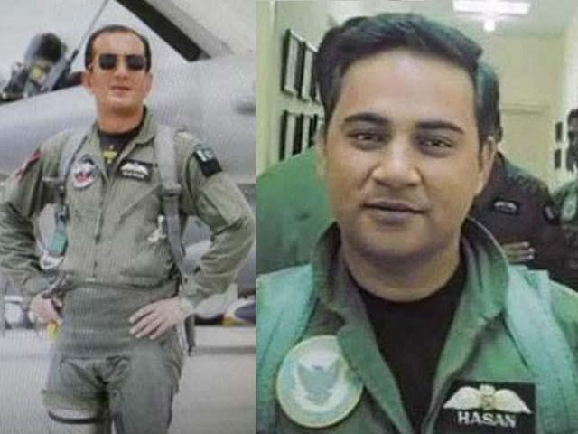 ونگ کمانڈر نعمان علی خان کو ستارہ جرات اوراسکوارڈن لیڈر حسن محمود صدیقی کو تمغہ جرات تفویض کیا گیا۔ فوٹو:فائل