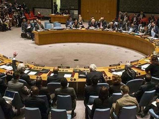 سلامتی کونسل کے اجلاس میں کشمیر کی صورت حال پر تشویش کا اظہار کیا گیا۔ فوٹو : فائل