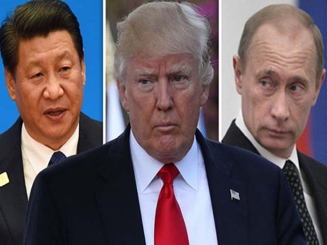 امریکا نے میزائل تجربہ کرکے خطے کے امن کو نقصان پہنچایا ہے۔ چین و روس (فوٹو : فائل)