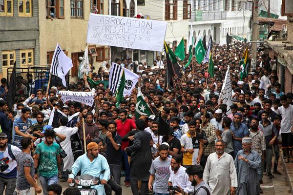 Kashmir protest in srinager