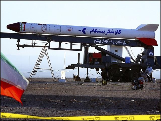 29 اگست کو ایرانی اسپیس لانچ وہیکل ''کاوشگر پیشگام'' کا تجربہ ناکام رہا تھا۔ (فوٹو: سوشل میڈیا)