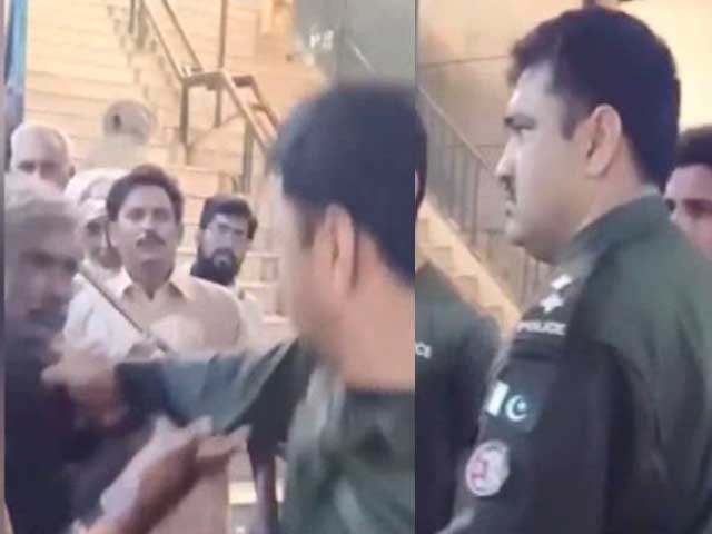 وہاڑی میں خاتون پر تشدد کرنے والے پولیس افسروں کے خلاف مقدمہ درج - فوٹو: اسکرین گریپ