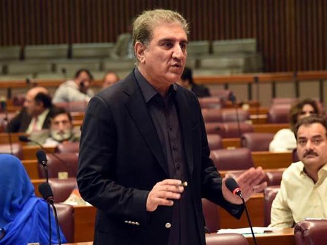 وزیر قانون کی بات کو توڑ مروڑ کر پیش کیا جارہا ہے، شاہ محمود قریشی فوٹو : فائل