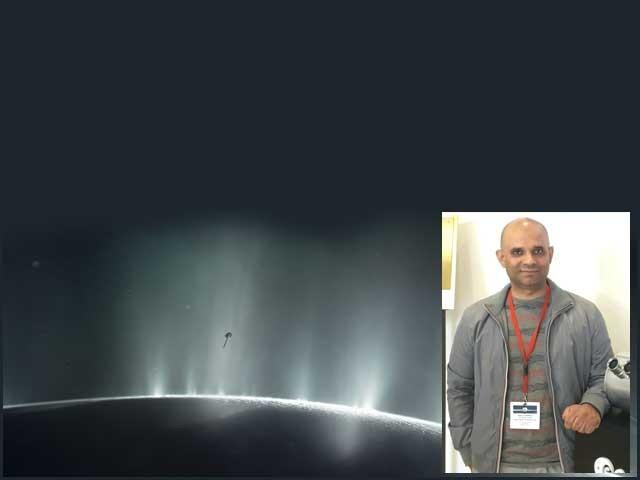 ڈاکٹر نوزیر خواجہ نے زحل کے چاند اینسیلڈس کی سطح سے نمودار ہونے والے ایسے سالمات دریافت کئے ہیں جو امائنو ایسڈ کے پیش رو کہے جاسکتے ہیں۔ فوٹو: فائل