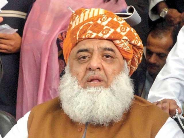 اپوزیشن جعلی حکومت کےخلاف ایک پیج پر ہے، مولانا فضل الرحمان فوٹو: فائل