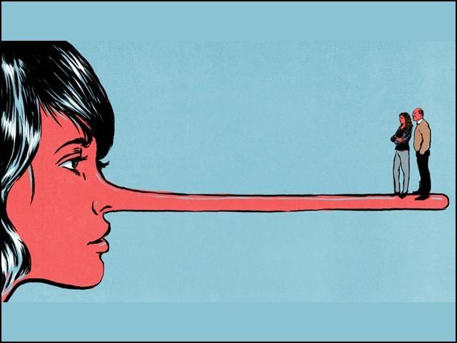 بچپن میں اپنے والدین سے بار بار جھوٹ سننے والے بچوں کے مزاج میں خود غرضی اور موقع پرستی آجاتی ہے۔ (فوٹو: انٹرنیٹ)
