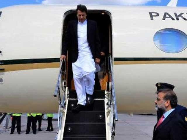 وزیراعظم خصوصی طیارے کے ذریعے بیجینگ سے اسلام آباد پہنچے