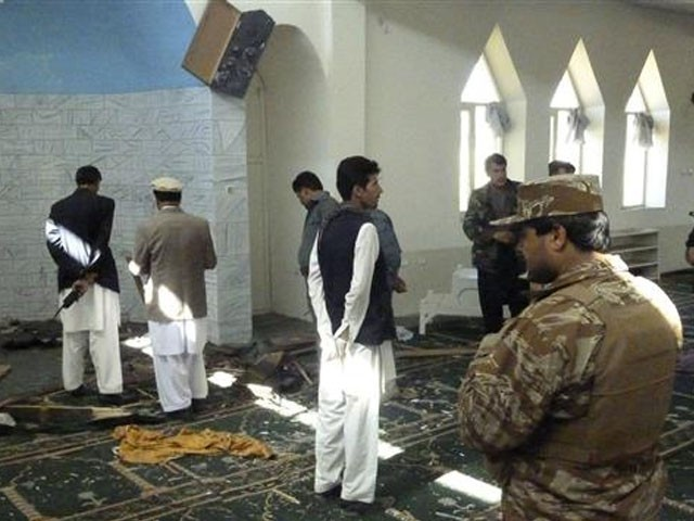 دھماکا نماز جمعہ کے دوران کیا گیا۔ فوٹو : فائل